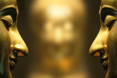 Buddha face reflex Stock Photo