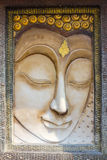 Buddha face sculpture Royalty Free Stock Image