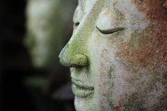 Buddha face side Stock Photography