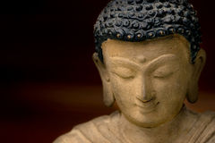 Buddha Face, statue in Bronze, Royalty Free Stock Photography