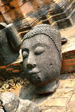 Buddha Face Statue, Ayutthaya Stock Photo