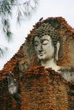 Buddha Face, Thailand. Buddha face with bird, Thailand Royalty Free Stock Photography