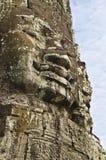 Buddha faces of Bayon in Angkor Wat Stock Images