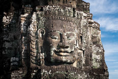 Buddha faces of Bayon temple at Angkor Wat. Cambodia Stock Photo