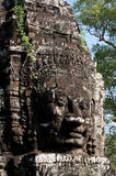 Buddha faces of Bayon temple at Angkor Wat. Cambodia Royalty Free Stock Image