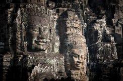 Buddha faces of Bayon temple at Angkor Wat. Cambodia royalty free stock images