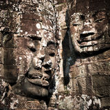 Buddha faces of Bayon temple at Angkor Wat. Cambodia Royalty Free Stock Images
