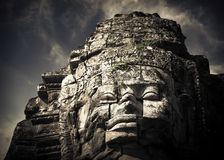 Buddha faces of Bayon temple at Angkor Wat. Cambodia Stock Photography