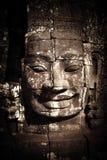 Buddha faces of Bayon temple at Angkor Wat. Cambodia Stock Photo