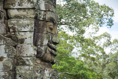 Buddha faces of Bayon temple. Angkor Wat. Cambodia Stock Photos
