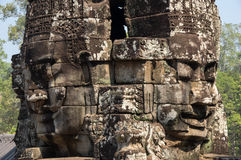 Buddha faces of Bayon temple Stock Photography