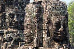 Buddha faces of Bayon temple Stock Image
