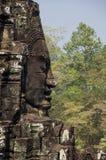Buddha faces of Bayon temple Stock Photos