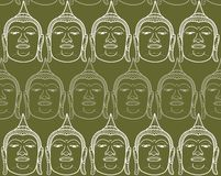 Buddha faces in rows Royalty Free Stock Photography