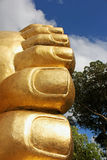Buddha Feet. View of the toes of the Buddha Stock Photography