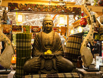 Buddha at the Festival of the Orient in Rome Italy. The Festival of the Orient was held at the Exhibition Centre near Rome Airport at Fumincino on the outskirts Stock Images