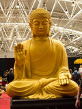 Buddha at the Festival of the Orient in Rome Italy. The Festival of the Orient was held at the Exhibition Centre near Rome Airport at Fumincino on the outskirts Stock Photography