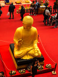 Buddha at the Festival of the Orient in Rome Italy. The Festival of the Orient was held at the Exhibition Centre near Rome Airport at Fumincino on the outskirts Royalty Free Stock Images
