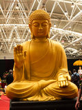 Buddha at the Festival of the Orient in Rome Italy. The Festival of the Orient was held at the Exhibition Centre near Rome Airport at Fumincino on the outskirts Royalty Free Stock Image