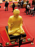 Buddha at the Festival of the Orient in Rome Italy. The Festival of the Orient was held at the Exhibition Centre near Rome Airport at Fumincino on the outskirts Stock Image