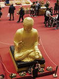 Buddha at the Festival of the Orient in Rome Italy. The Festival of the Orient was held at the Exhibition Centre near Rome Airport at Fumincino on the outskirts Royalty Free Stock Photo