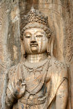 Buddha figure. Huge buddha figure at longmen grotto Stock Image