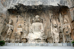 Buddha figure. Huge buddha figures at longmen grotto Stock Image