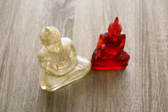 Buddha figure in meditation mode. Royalty Free Stock Photography