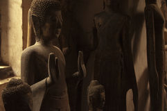 Buddha figures. In Luang Prabang,Lao Royalty Free Stock Photos