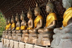 Buddha figures in the Seema Malaka temple of Colombo in Sri Lanka Royalty Free Stock Images