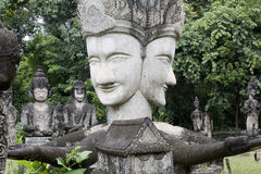 buddha figurines som göras p, stenar thailand Royaltyfri Bild