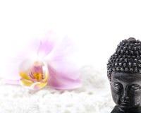 Buddha, flower Stock Photo