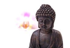 Buddha, flower, zen Stock Photo
