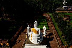 Buddha and followers Royalty Free Stock Images