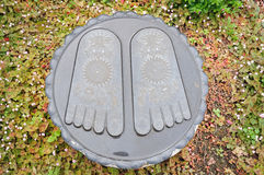Buddha footprints Stock Photos