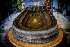 Buddha footprints replica Stock Photography