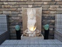 Buddha fountain stock photo
