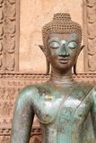 buddha framsida vientiane royaltyfri fotografi