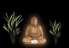 Buddha-Frieden Lizenzfreies Stockfoto