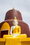 Buddha front of Pagoda in Temple.Thailand.  Royalty Free Stock Image