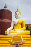 Buddha front of Pagoda in Temple.Thailand.  Stock Photo
