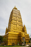 Buddha front of Pagoda in Temple.Thailand.  Stock Images