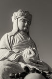 Buddha with Fruit B&W Royalty Free Stock Photography