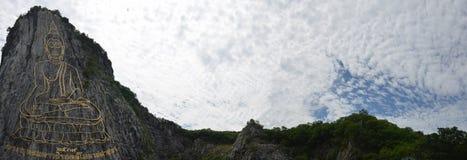 Buddha góra dzwonił Khao Cheejan lub Khao Chee Chan Obrazy Stock