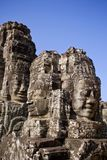 Buddha głowa Góruje fotografia royalty free