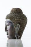 Buddha głowa na białym tle obrazy stock