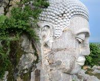 Buddha głowa przy Sampou górą zdjęcie stock