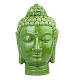 Buddha głowy zieleń Zdjęcia Royalty Free