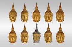 buddha głów isolate Obraz Royalty Free