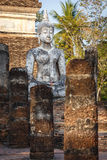buddha gammal staty Royaltyfri Foto